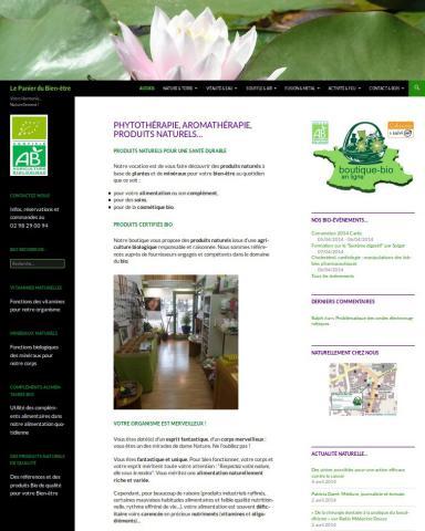 création site internet du panier du bien etre